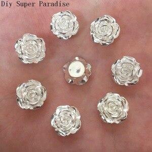 Image 2 - Hot 80PCS 12mm Resin Flower Flatback Stone Embellishment DIY Beads Crafts Scrapbook K470*2