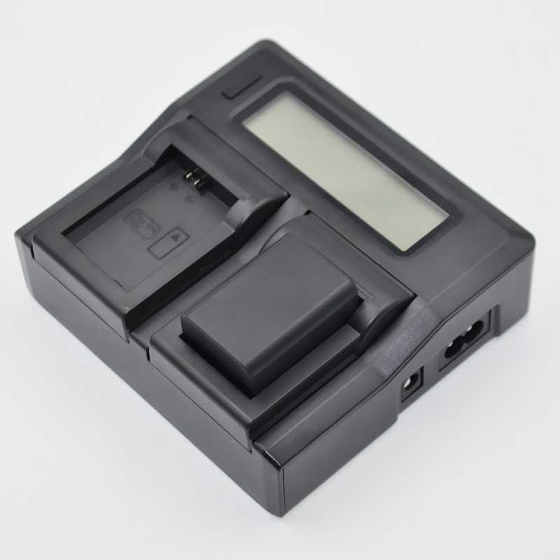 Camera Battery Charger Dual Channel LCD Display Baterai Cepat Charger untuk Sony Np-Fp70 Fp90 Np-Fv50 Np-Fv60 Np-Fv70 Np-Fv100 S
