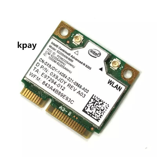 Intel Wireless N 6205 62205ANHMW 300Mbps Mini PCI E 2.4G+5G WIFI wireless network card HP EliteBook 8470p 8770W SPS 695915 001