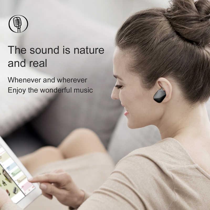 Baseus Mini bezprzewodowa Bluetooth słuchawka do iPhone'a X 8 Samsung S9 S8 słuchawki douszne Stereo bezprzewodowy Bluetooth Driver słuchawki douszne z mikrofonem