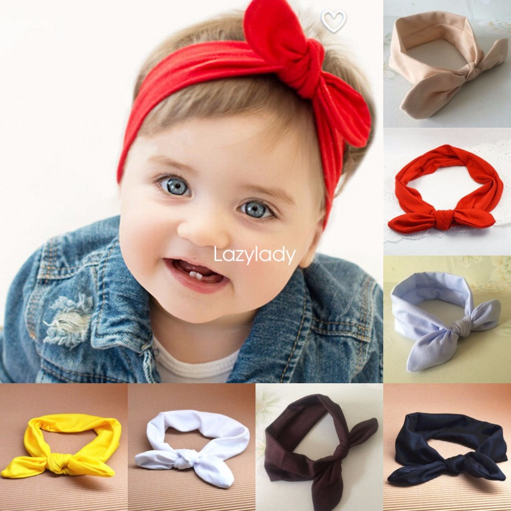 2017 New Baby Girl Solid Knot Headband Kids Cotton Turban Knitted Hair Accessories Children Cross Headwear for Children soft headwear cross hairband turban knitted knot headband kids hair bands newbown hair accessories w 146