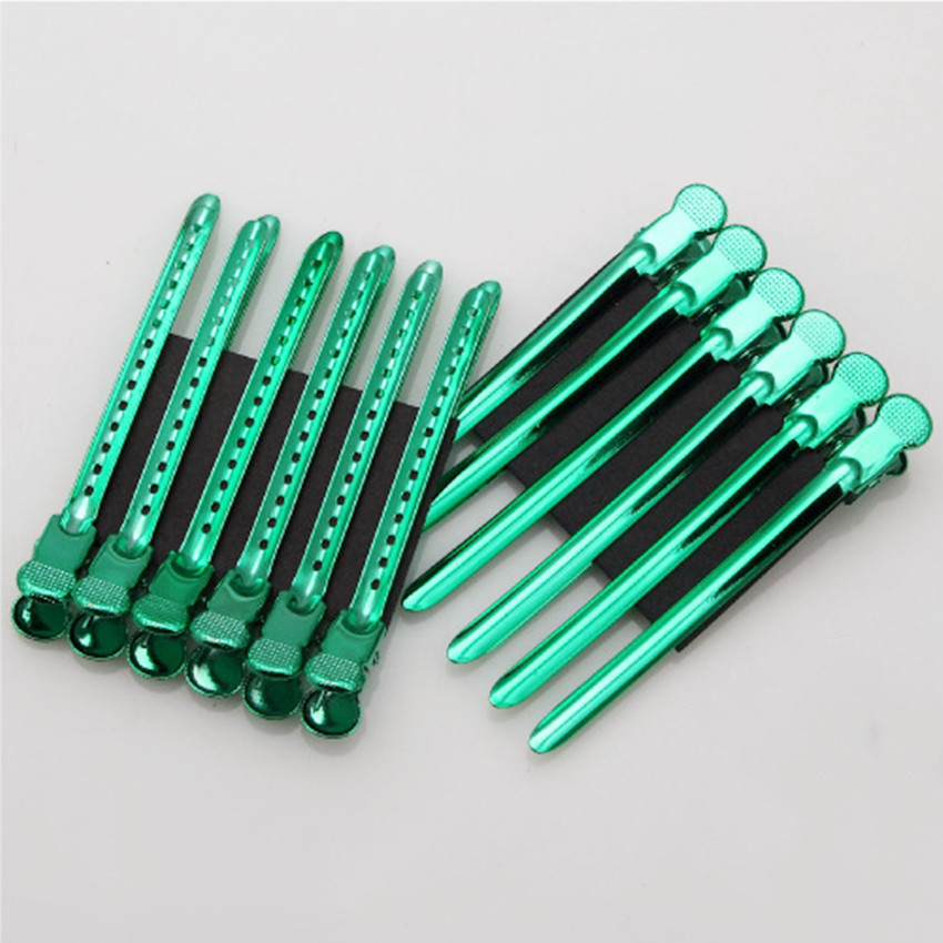 12Pcs/Set New Stainless Steel Hairdressing Color Clip  Haircut Duck Mouth Makeup Clamp Hairpins Hair Clips For Girls