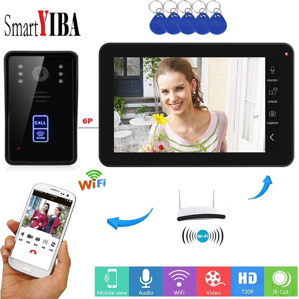 SmartYIBA RFID Video Intercom 9 Inch Monitor Wifi Wireless Video Door Phone Doorbell Camera Unlock Intercom System APP Control