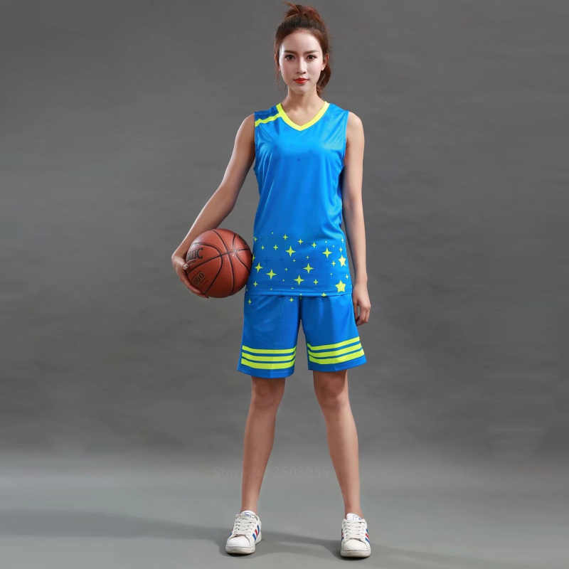 11ebec6aaad ... Women basketball jerseys Sports clothing top and shorts team customize  girls cheap college basketball training suits ...