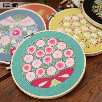 Creative DIY Ribbons Embroidery for Beginner Needlework Practice Kits Cross Stitch Wall Painting Modern Art Decoration Craft embroidery