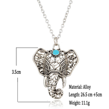 Vintage Elephant Shaped Pendant Necklace