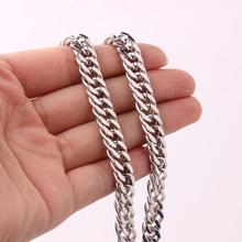 Granny Chic Top Quality 316L Stainless Steel Double Curb Cuban Link Rombo Chain Necklaces for Men Jewelry 6mm Wide