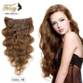 100g Weft Body Wave Clip In Hair Extensions Human Virgin Brazilian Hair Clip In Human Hair Extensions Slove Rosa Products