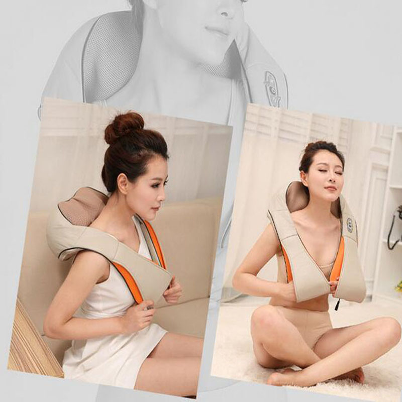 U Shape Multifunction Infrared Electrical Shiatsu Back Neck Shoulder Waist Massager Body Massager Infrared 3D kneading