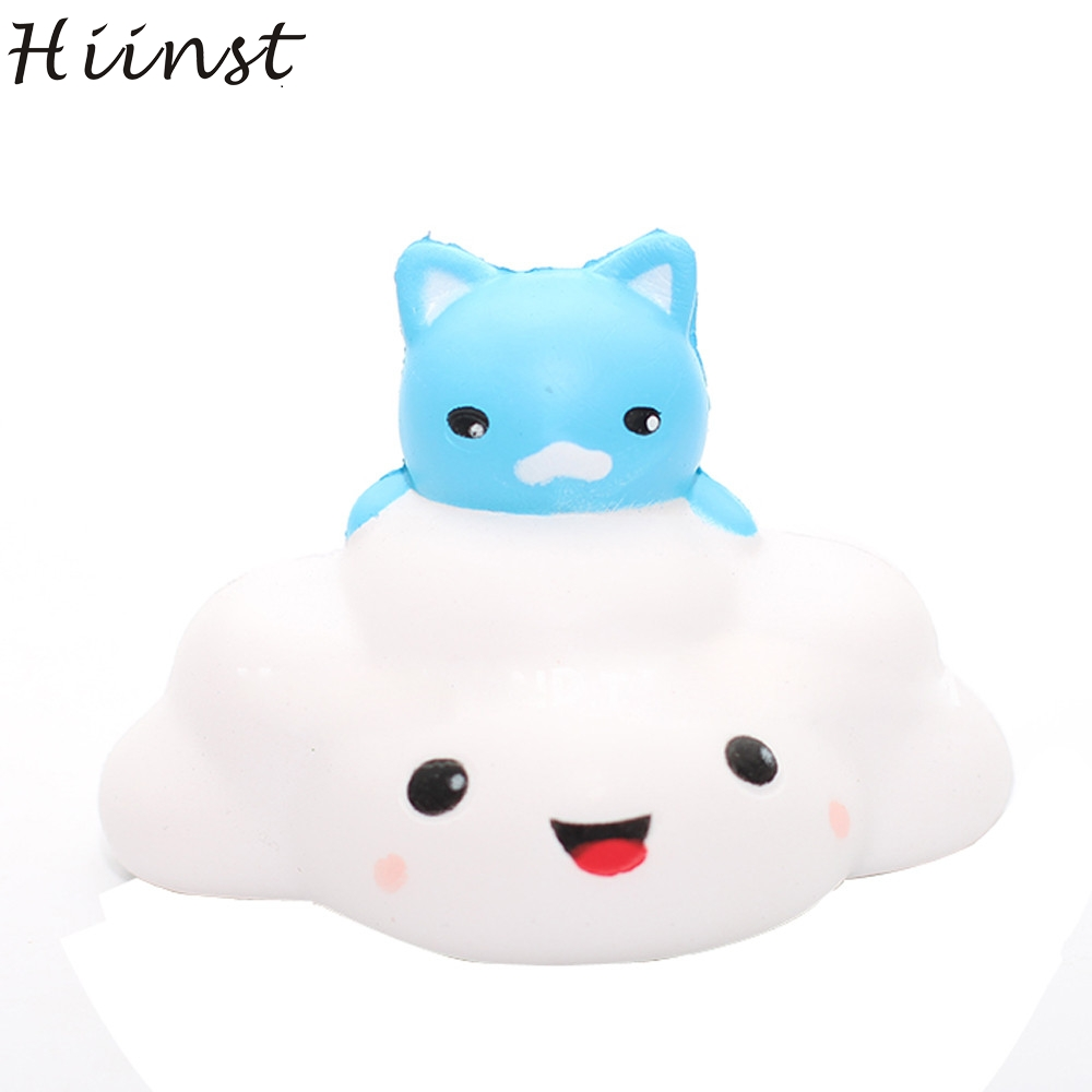 HIINST funny toys 2017 Cat clouds squishy squishy slow rising Phone Strap Kid Fun Toys squeeze Soft Bread Cake *R Drop