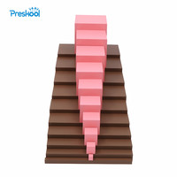 Montessori Brown Stairs and Pink tower Baby Toy Early Childhood Education Preschool Kids Brinquedos Juguetes
