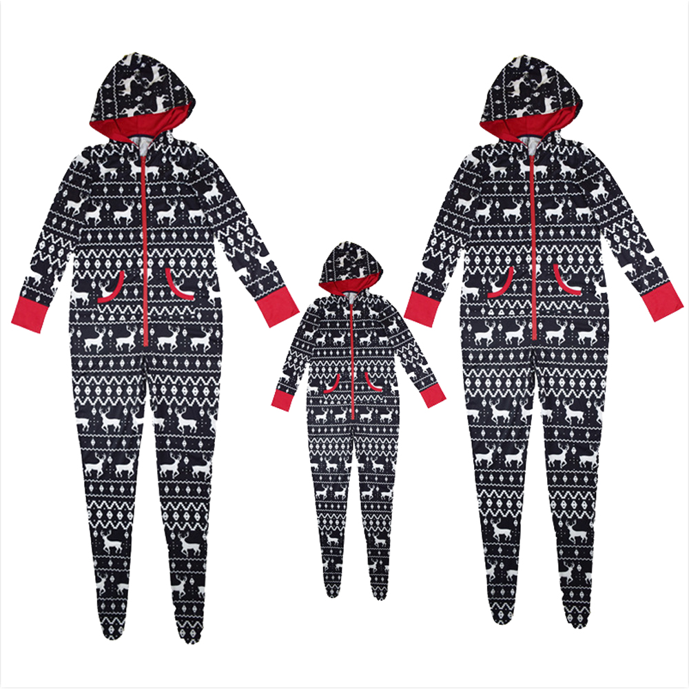 Christmas Deer Rompers Family Matching Outfits Mother Kid Pa
