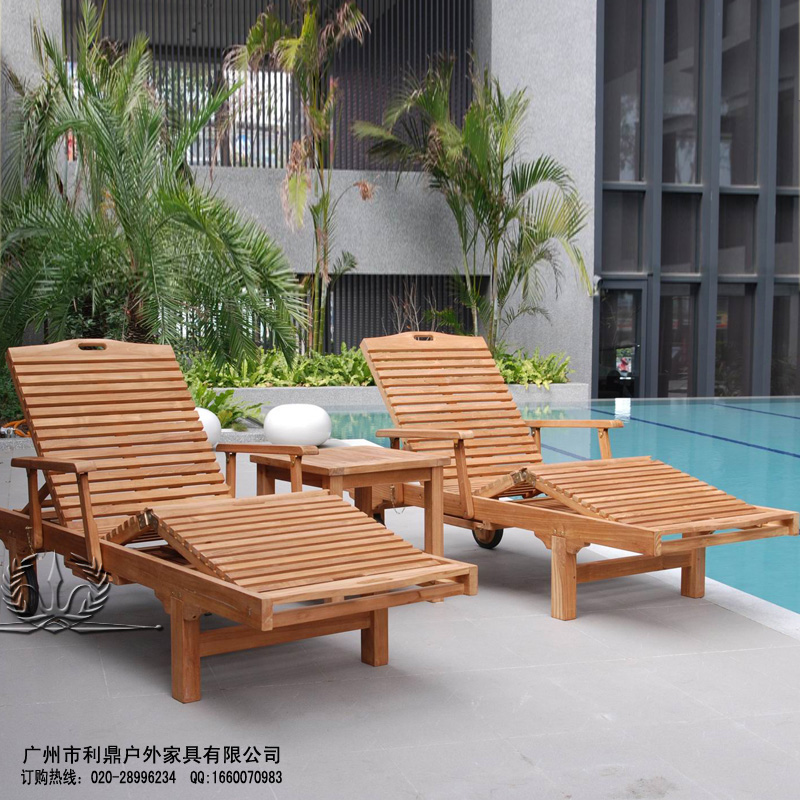upscale hotel pool lounger chairs wood wood chaise lounge s type folding deck chairs lying bed. Black Bedroom Furniture Sets. Home Design Ideas