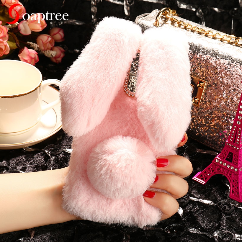 Luxury Warm Rabbit hair Cases For Cubot Power Magic Max P20 H2 H3 J3 R11 R9 Note Plus Rainbow X18 Plus Coque Cute Furry Cover