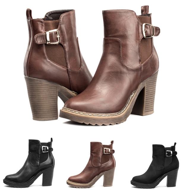 LARA's 2015 new style black leather chelsea boots women zip soft ...