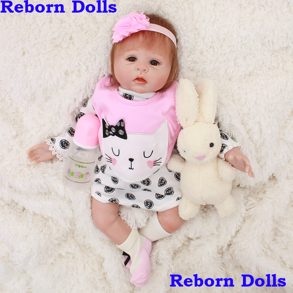 New arrival bebes reborn silicone baby dolls toys 2048cm newborn girl babies toy dolls gift soft touch BJD boneca reborn  New arrival bebes reborn silicone baby dolls toys 2048cm newborn girl babies toy dolls gift soft touch BJD boneca reborn