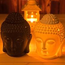 Oil Burner Incense Bathroom Buddhist Temple White/Black Ceramics Aroma Retro