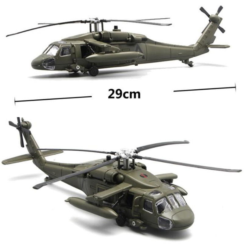 1/72 Scale 29CM Black Hawk Helicopter Millitary Model Army Fighter Aircraft Airplane Models Adult Children Toys Military