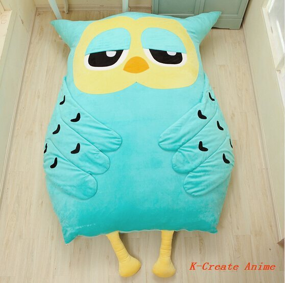 Free shipping 1pcs Animal Owl style giant sofa bed tatami toy via EMS.High quality cartoon mattress hot sell.