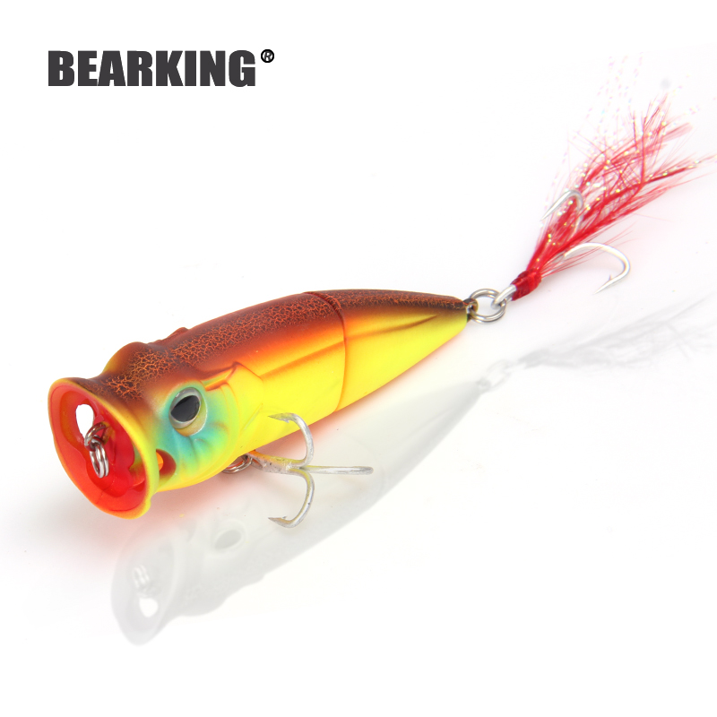 2018 hot model Bearking popper 7cm 11g Wobblers de pesca 5pcs / lot - Pescando - foto 3