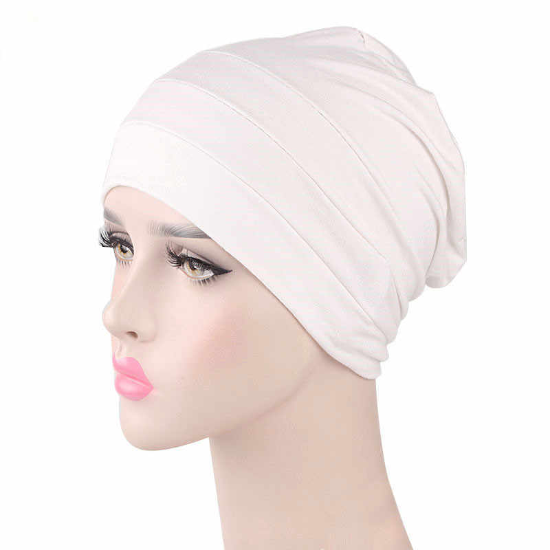 091323313a5f9 ... Womens Soft Comfy Chemo Cap and Sleep Turban Hat Liner for Cancer Hair  Loss Cotton Headwear ...