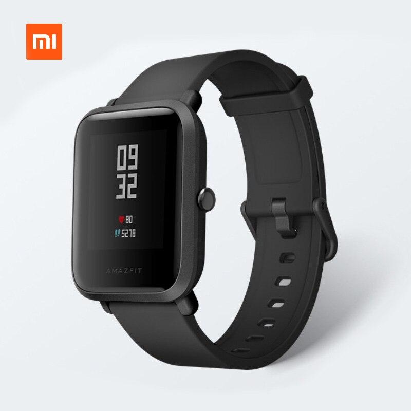 Xiaomi Amazfit Bip Smart Uhr Jugend 45 Tage Standby IP68 Wasserdichte GPS Tracker Kompass Fitness für männer frauen English Version