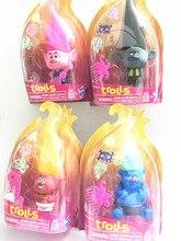 40pcs New DREAMWORKS Movie Trolls Poppy DJ Suki Guy Diamond Cooper Branch Critter Skitter  PVC Action Figures Toys
