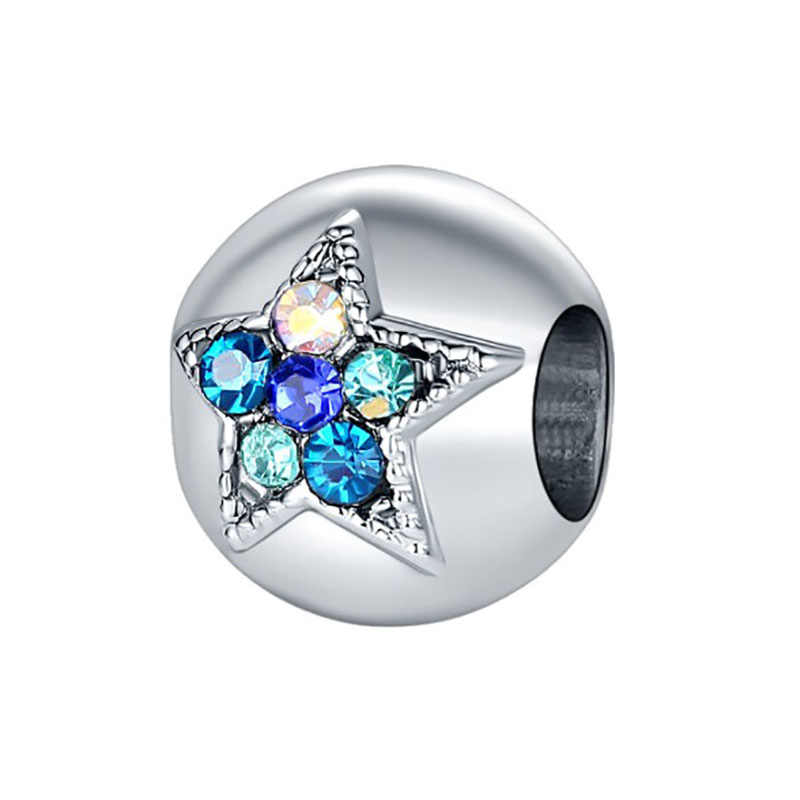 Fit Pandora Charms เงิน 925 สร้อยข้อมือเดิมเครื่องประดับวันวาเลนไทน์ Mary Poppins Bijoux Sieraden Kolczyki คริสตัลลูกปัด