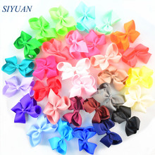 30pcs/lot 4.5 Inch Grosgrain Ribbon Bow Knot Girl Headband Hairband Accessories DIY Boutique Neon Color Available H0264
