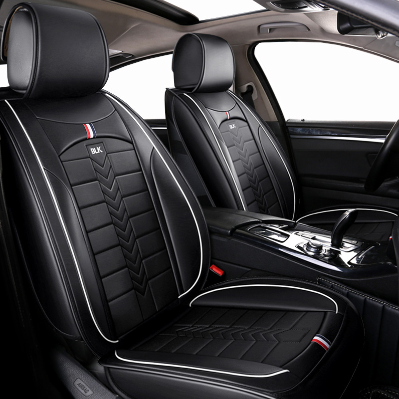 Leather Universal car seat <font><b>cover</b></font> <font><b>For</b></font> <font><b>audi</b></font> 80 <font><b>100</b></font> <font><b>c4</b></font> a7 a8 q2 q3 q5 q7 s3 s4 s5 s6 s7 s8 sq5 sq7 of 2018 2017 2016 2015 image