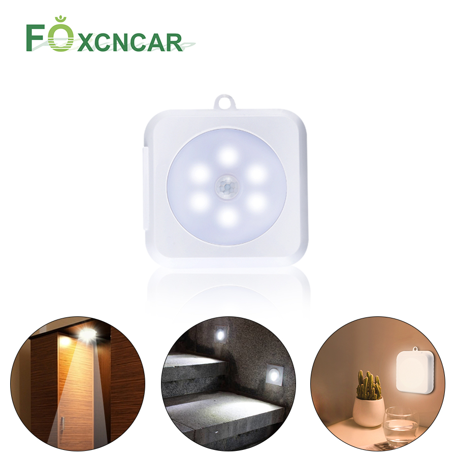 Foxcncar PIR Motion Sensor Light LED Under Cabinet Light Universal Wardrobe Light Sensor Led Armario For Cupboard Closet Kitchen