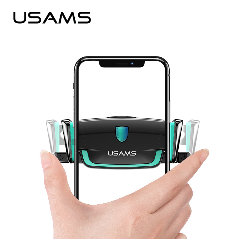 USAMS Stand Car-Phone-Holder Air-Vent-Mount iPhone In-Car for Xiaomi/9 S10 360-Rotation