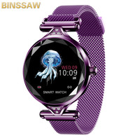 BINSSAW Women Fashion Smart Watch 2019 Blood Pressure Heart Rate Sleep Monitor Pedometer luxury ladies Smartwatch Gift for Girl