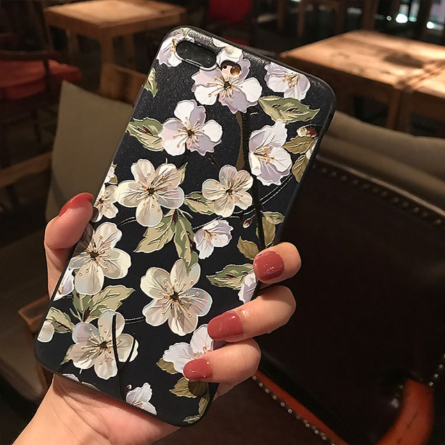 3D Emboss Flower Case For Samsung Galaxy S10e S8 S9 S10 A8 A6 Plus A7 A9 2018 A3 A5 2017 2016 S7 Edge A30 A50 A70 M10 TPU Cover