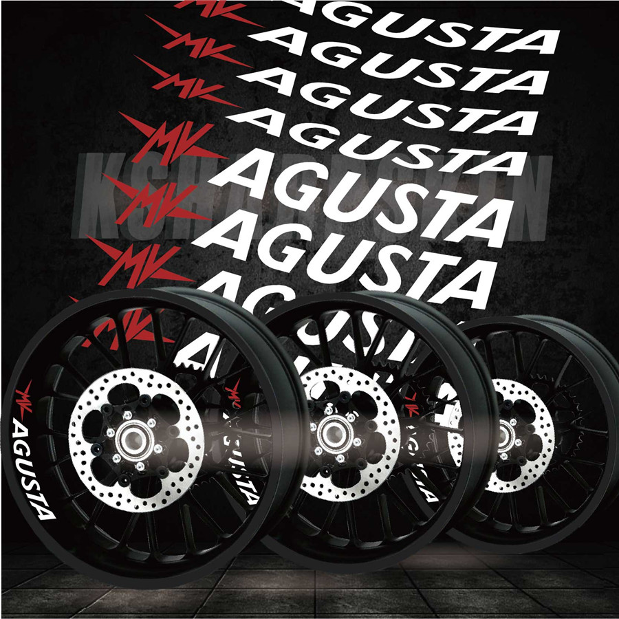Hot Tires Motorcycle Reflective Stripe Stickers Decorative Car Stickers Creative Wheel Decals For  MV AGUSTA