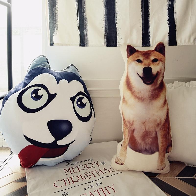 1pc Kawaii Simulation Plush Shiba Chai Dog Husky Pillow Stuffed Cute Plush Dog Toys Kids Gifts 80cm large super cute plush toy dog bulldog husky shiba pug pillow down cotton filling as a gift to the children and friends