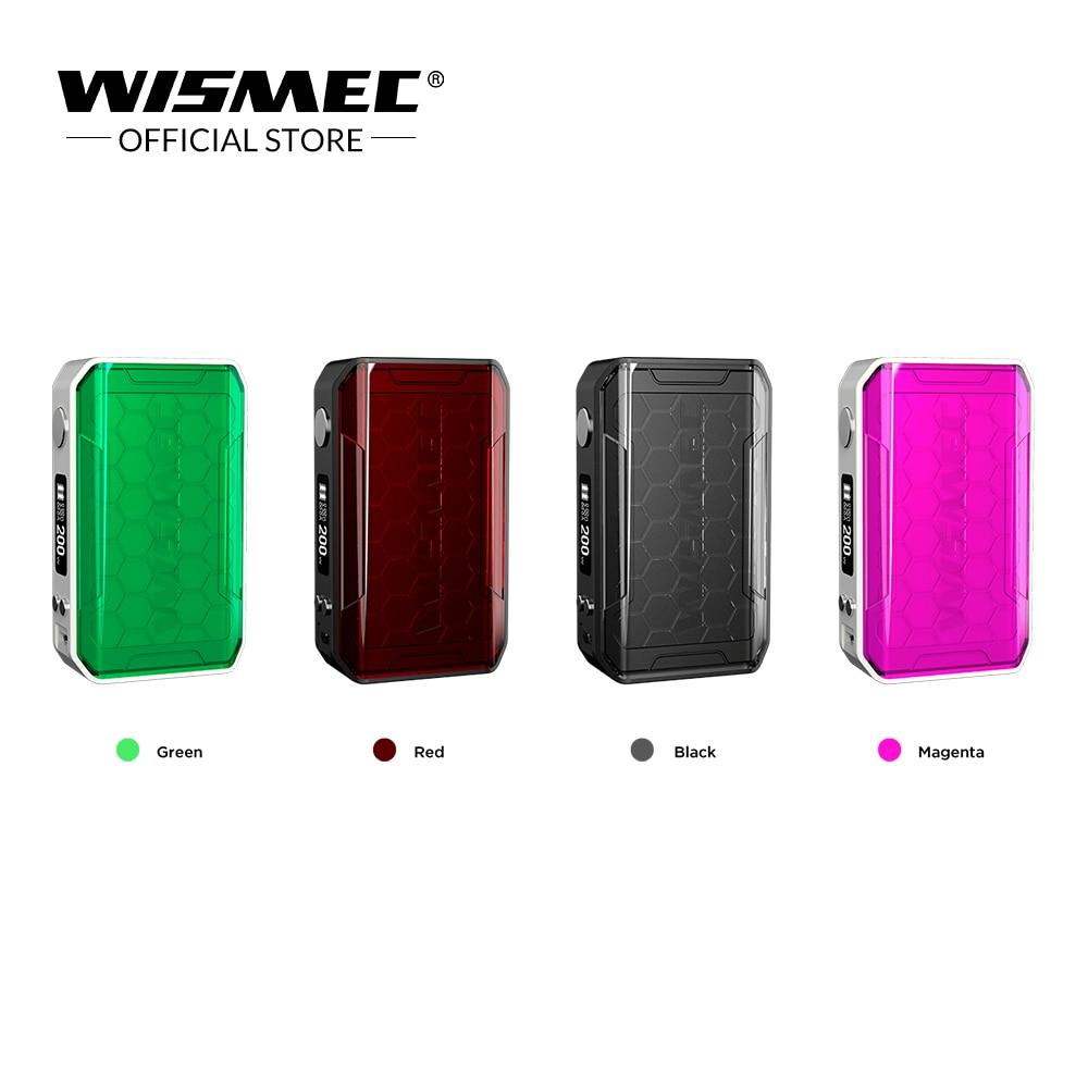 Original WISMEC SINUOUS V200 TC Box Mod Output 200W Wattage By VW TC TCR Mode 510