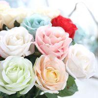 10 adet/grup Çiçek Lateks Gerçek Dokunmatik Gül Yapay Çiçekler Ipek Çiçekler Gül Düğün Buket Ev Dekorasyonu Parti Çiçekler Nedime