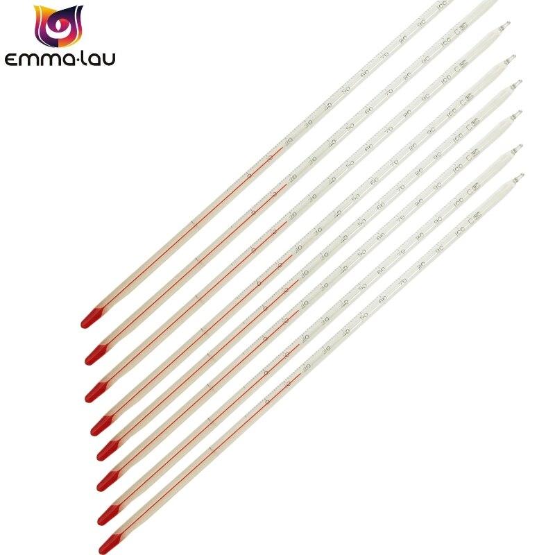 От-30 до 100 градусов по Цельсию Стекло термометр красного цвета, душевное, жидкий базовый термометр полного погружения лаборатории школы дом...