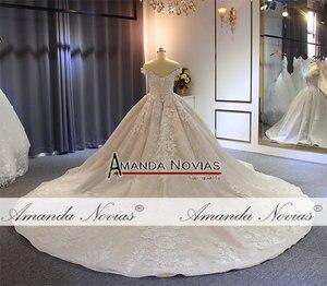 Image 5 - Kapalı omuz askıları robe de soiree düğün elbisesi uzun tren ile