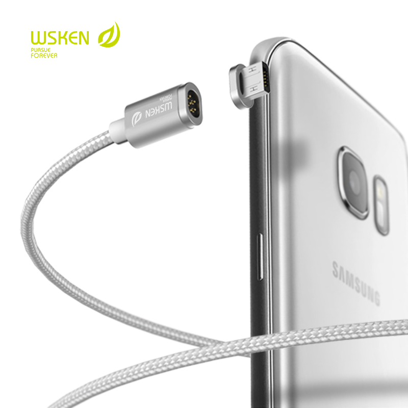 official photos 2c92c c2586 WSKEN MINI 2 Magnetic Charging Fast Cable Connector Plug Metal USB For  IPhone Samsung LG Xiaomi Huawei