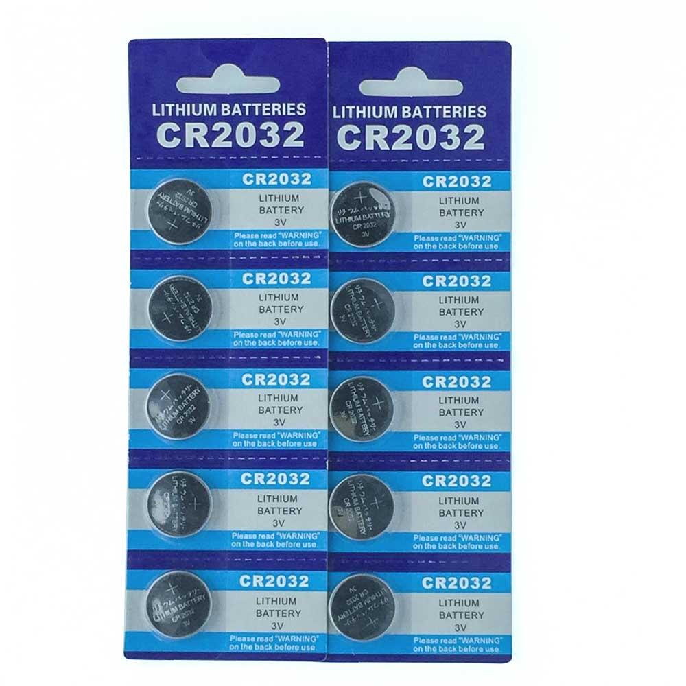 Grande Puissance 10 pièces CR2032 DL2032 CR 2032 KCR2032 5004LC ECR2032 bouton pile bouton pour montre, 10 pièces CR2032 Batterie
