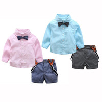 2 Colors Hot New 2017 Cool School Wind Children Baby Boys T Shirts Tops Pants Outfits