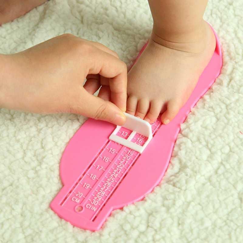 เด็กรองเท้าเด็กเครื่องมือวัดขนาดรองเท้าทารกอุปกรณ์ไม้บรรทัดชุด 6-20 ซม.