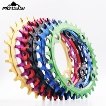 MOTSUV Round Narrow Wide Chainring MTB Mountain bike bicycle 104BCD 32T 34T 36T 38T crankset Tooth plate Parts 104 BCD цена