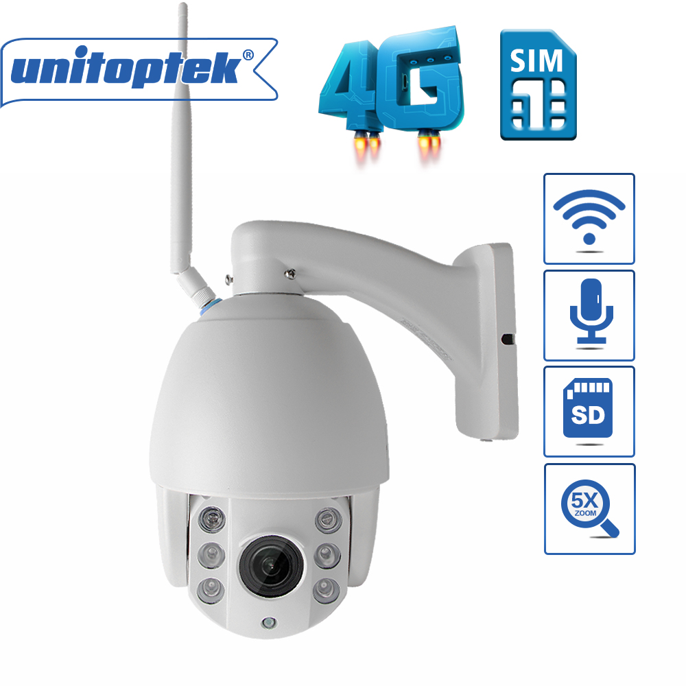HD 3G 4G SIM Card PTZ Speed Dome IP Camera 960P 1080P Outdoor 5X Optical Zoom SD Card IR 60M Infrared CCTV P2P Camera