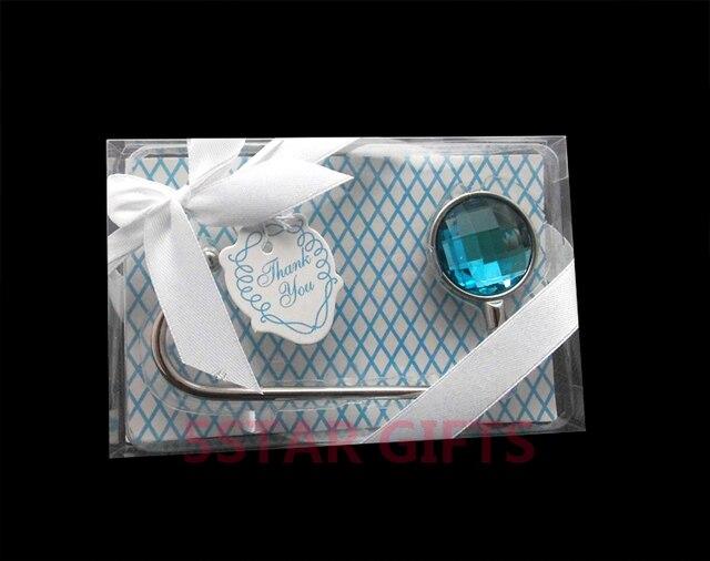 Something Blue Shimmering Purse Valet 100pcs Lot Hanger Hook Wedding Bridal Shower Favor