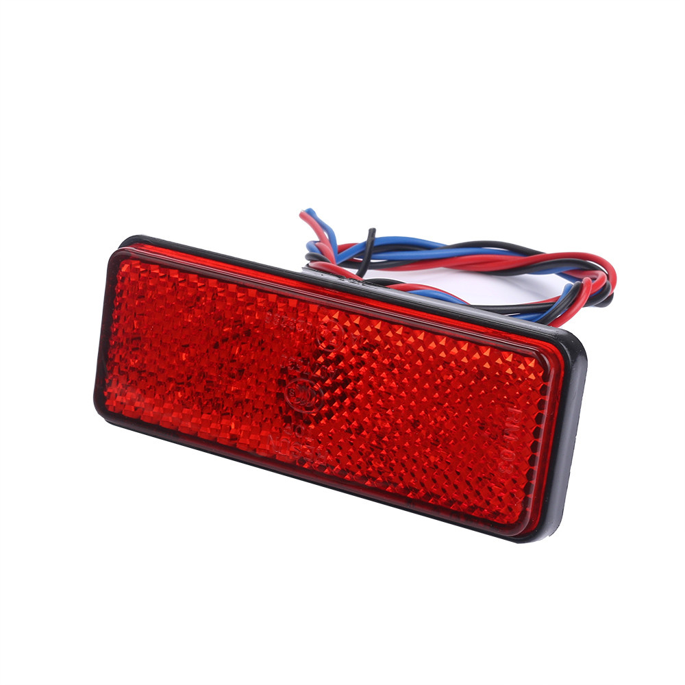 Low power consumption 2x Universal Car ATV SUV 12V Red 24 LED Stop Fog Tail Brake Light Lamp Energy-Saving Car lights @117