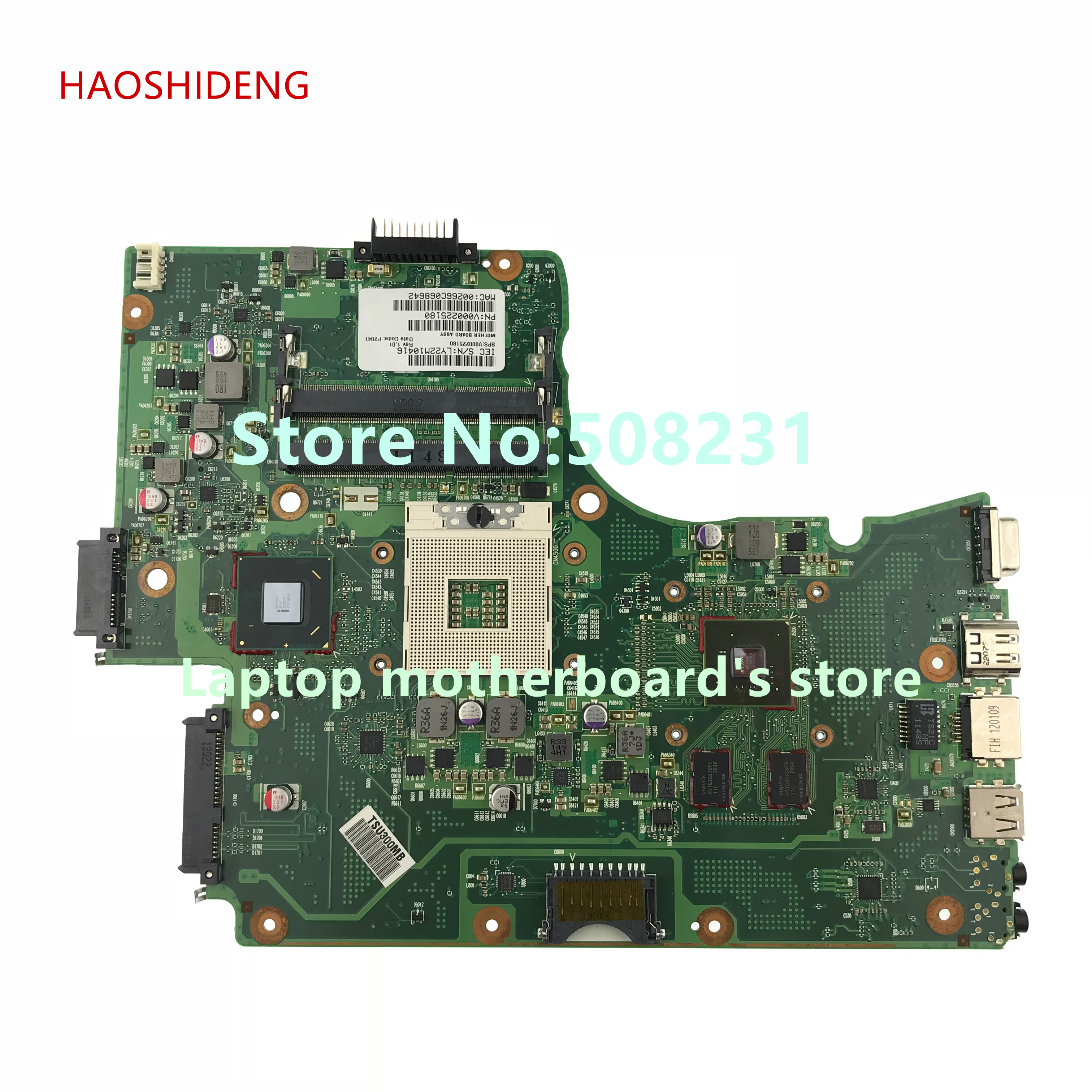 HAOSHIDENG V000225180 mainboard For Toshiba Satellite C650 C655 laptop motherboard with GeForce GT315M for toshiba satellite c655 s5128