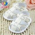 ДЖЕННИ малыш! новорожденные девочки и мальчики впервые ходунки дети дышащий летом прохладно мягкой подошвой обувь для 0-1 лет